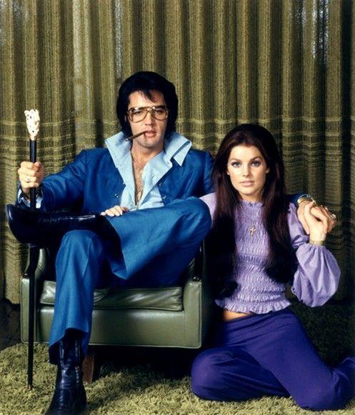 Elvis and Priscilla.... kinda creepy.
