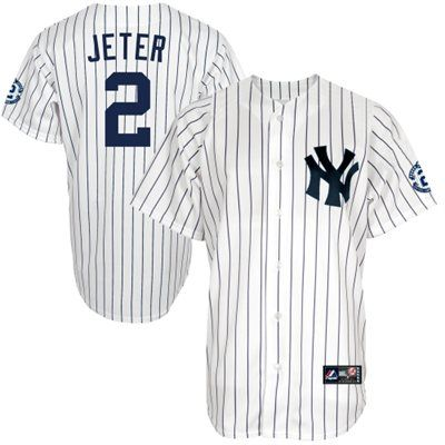 00b34a092 MLB Jersey Majestic Derek Jeter New York Yankees Youth White Replica Jersey  with ...