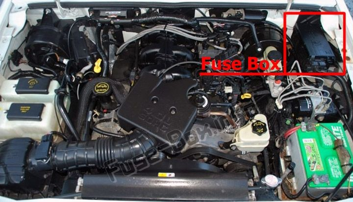 The Location Of The Fuses In The Engine Compartment Ford Ranger 1998 2003 Ford Ranger Fuse Box Ranger