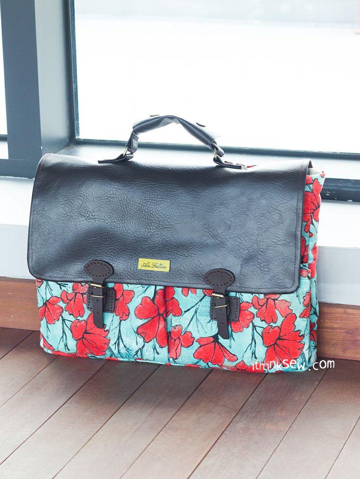 857 Samuel Laptop Bag PDF Pattern-ithinksew.com