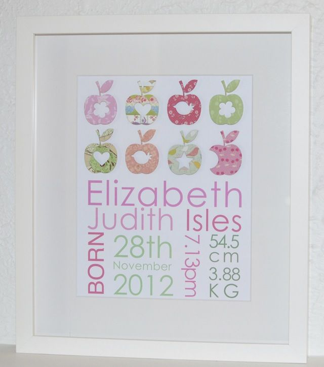 15 best baby girls personalised gifts images on pinterest baby word name paper art personalised kids presents personalised new baby girl birth information announcement christening gift celebrations negle Images