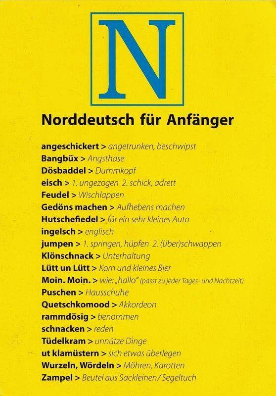 Norddeutsch für Anfänger ...;) | Hamburch | Pinterest