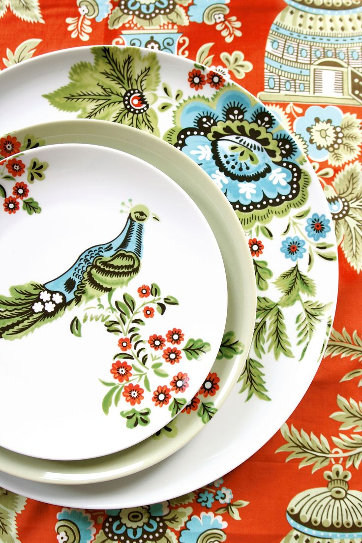 Earthly Delights | Wedding Planning, Ideas & Etiquette | Bridal Guide Magazine - Textile designer Amy Butler's new line for Mikasa adds vintage charm to the modern table.