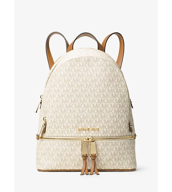 Rhea Medium Backpack by MICHAEL Michael Kors. Laid-Back Yet Luxe Our Rhea Backpack Redefines Big-City Accessorizing. We Love The Combination Of Our Signature Logo ...