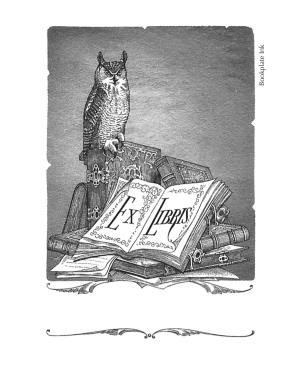 Introduced in the late 1940s, this owl design was adapted by the Antioch Bookplate Company from a steel engraving designed and originally published by William Pringle. It is one of our most popular designs and is available without added text in our Non-Personalized category.