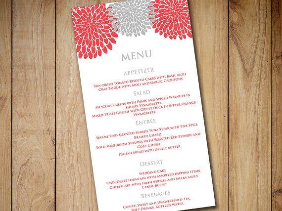 25+ parasta ideaa Pinterestissä Diy wedding menu cards - free menu templates for microsoft word