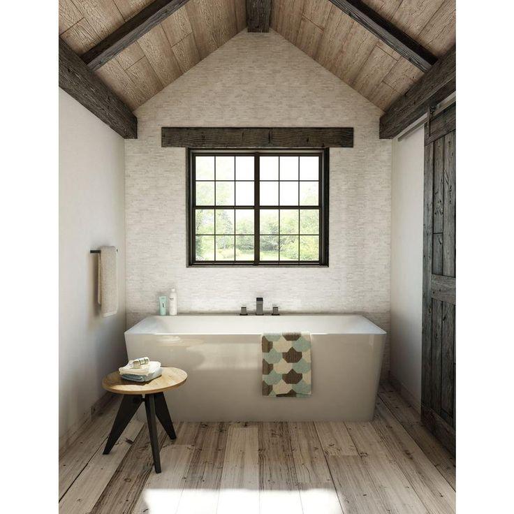 Inoxia Speedtiles Himalayan 11 75 In X 11 6 In Stone Adhesive Wall Tile Backsplash In White