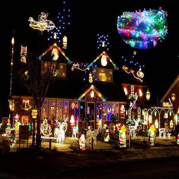 200m 1000 LED Schlauch Licht Lichterkette Weihnachtsbeleuchtung Kette Light Bunt in Möbel & Wohnen, Feste & Besondere Anlässe, Jahreszeitliche Dekoration | eBay