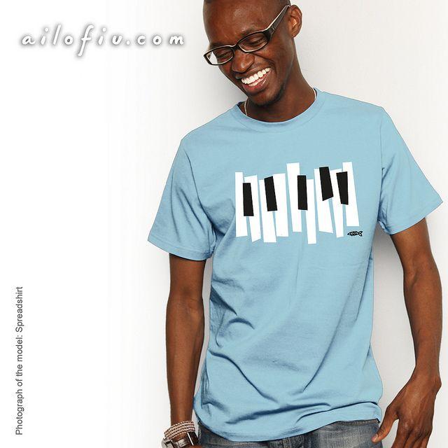 """Keyboard"" T-shirt. By ailofiu tees"