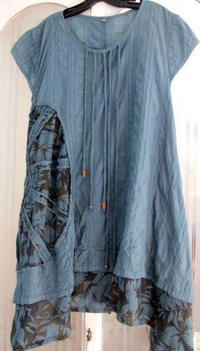 Art to Wear Lagenlook A Line Shift Tunic