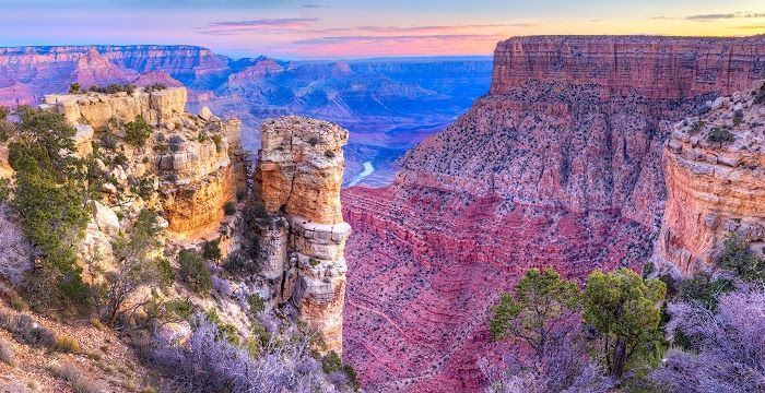 Explore amazing Gran Cayon Arizona at Grand View Point and Moran Point