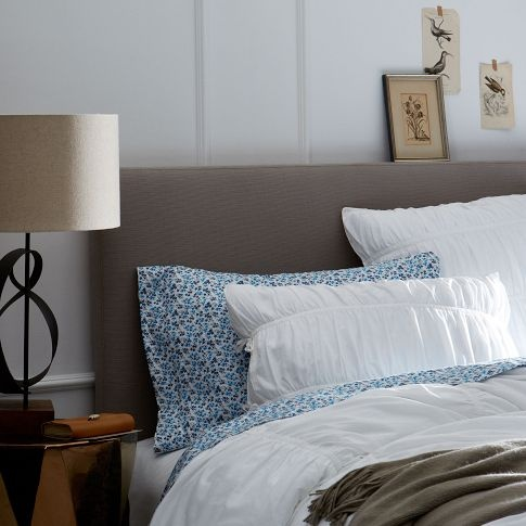 classic upholstered headboard from west elm a great bargain at 350