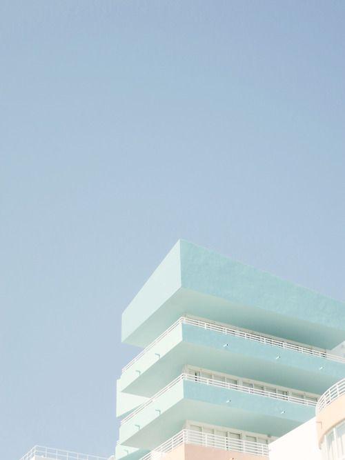 color   pastel blue building