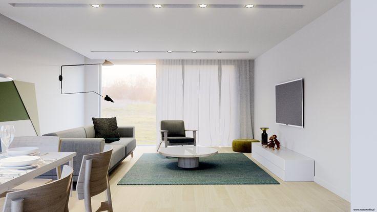 Salon w stylu duńskim. /Danish design. Więcej na :http://www.nukostudio.pl