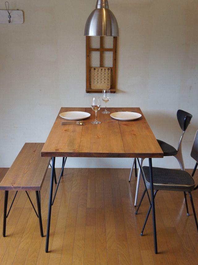 Landmark table & bench set  12*75   ハンドメイド、手作り作品の通販 minne(ミンネ)
