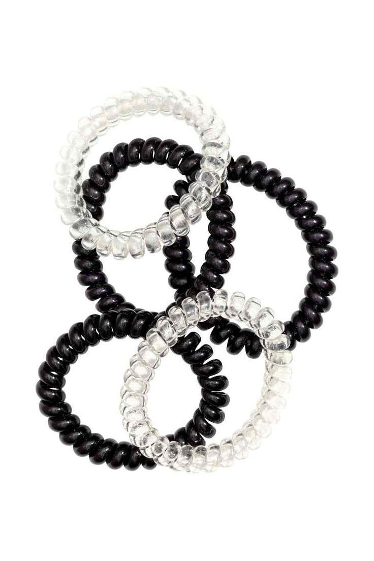 Lot de 5 élastiques à cheveux: Élastique à cheveux en spirale en plastique.