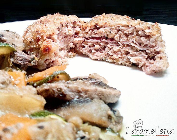 Medaglioni Dietetici di Carne farciti con Prosciutto e Grana