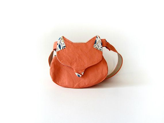 Kawaii bag cat purse gift for her woodland fox by MihotchStitch