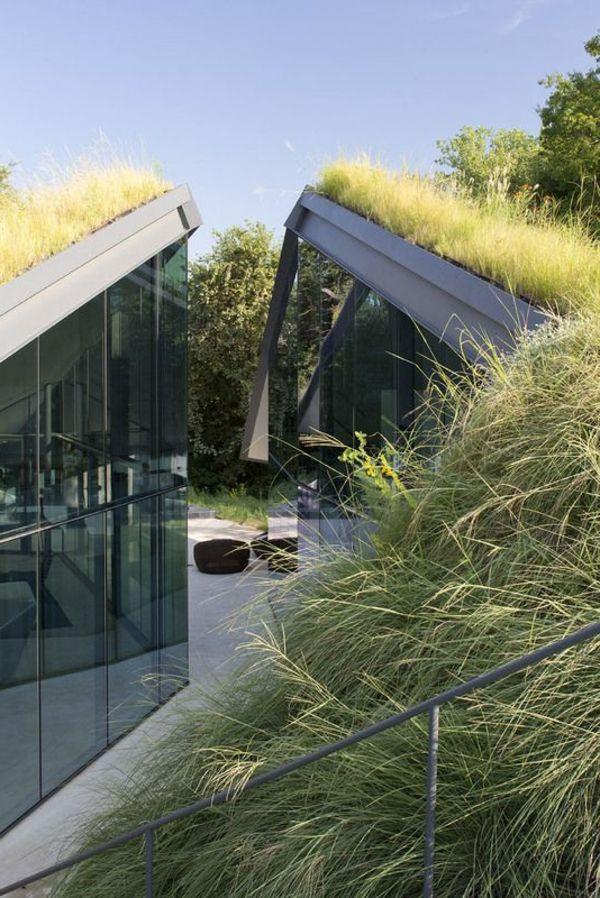 17 best ideas about toit vegetal on pinterest loft for Maison toit en verre