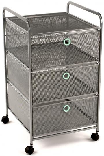 Wired 3 Drawer Cart   Rolling Storage Cart With Drawers   Storage Carts On  Wheels