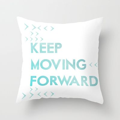 keep moving forward.. meet the robinsons disney movie quote Throw Pillow by studiomarshallarts - $20.00