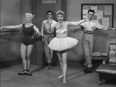 lucille ball- the ballet lesson :-)