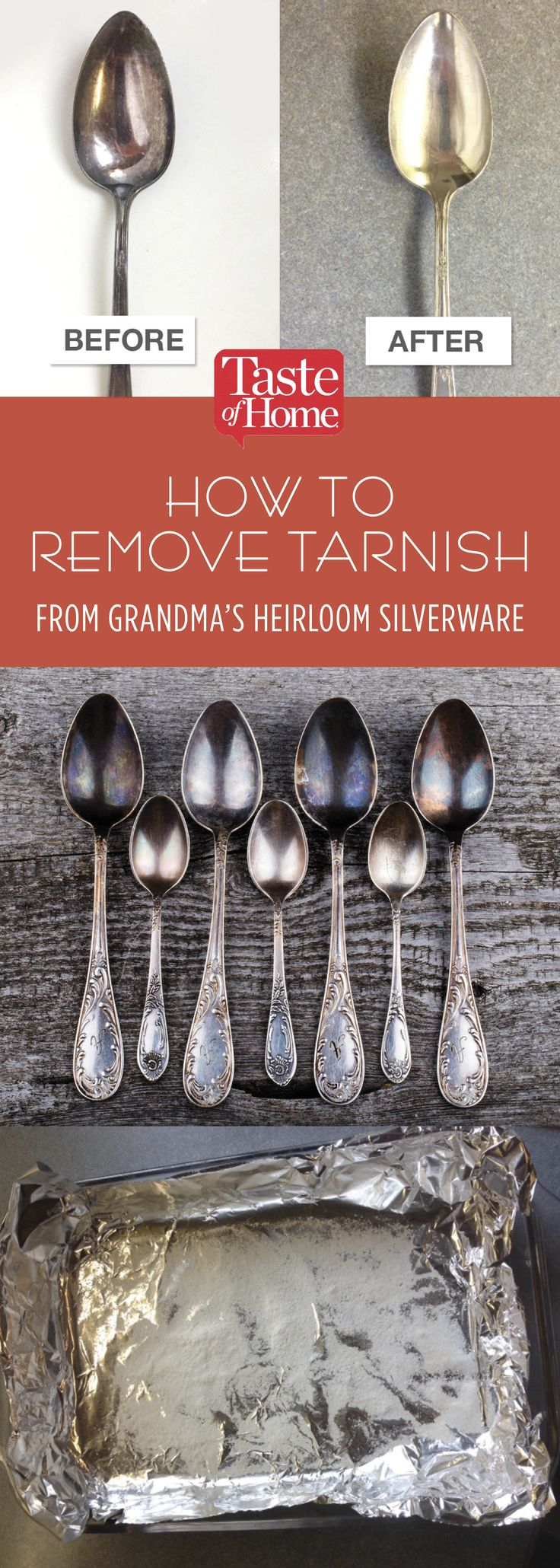 How to Remove Tarnish from Grandma's Heirloom Silverware