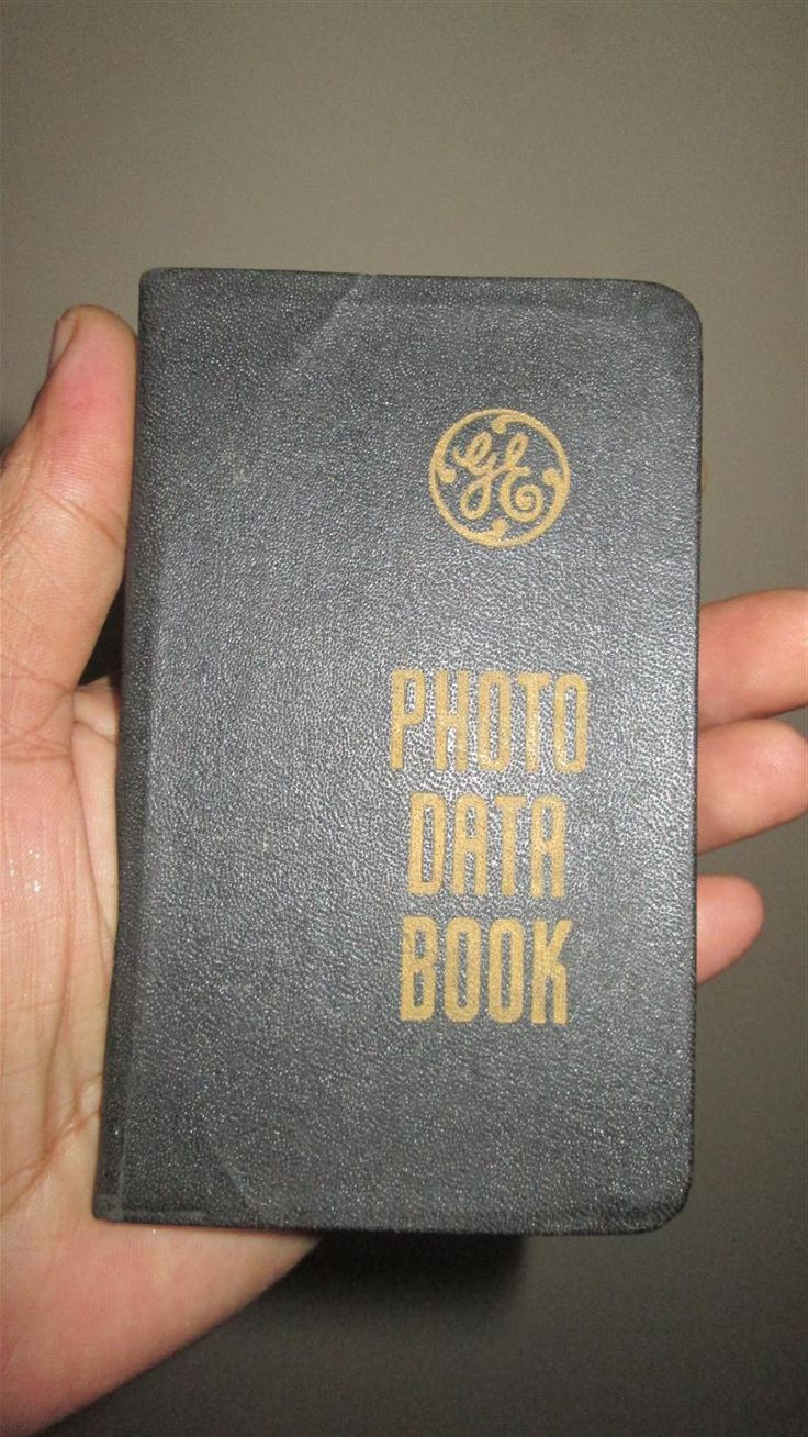 Photo Data Book General Electric Company 1946