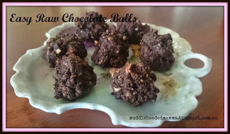 The Muddle-Headed Mamma: Easy Raw Chocolate Recipe
