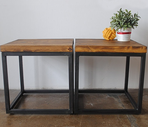 Cubed Coffee Table by SAWfurnitureCoffe Tables, Coffee Shops, The Doors, Black Metals, Interiors, Cubes Coffee Tables, End Tables, Pallets, Cherries