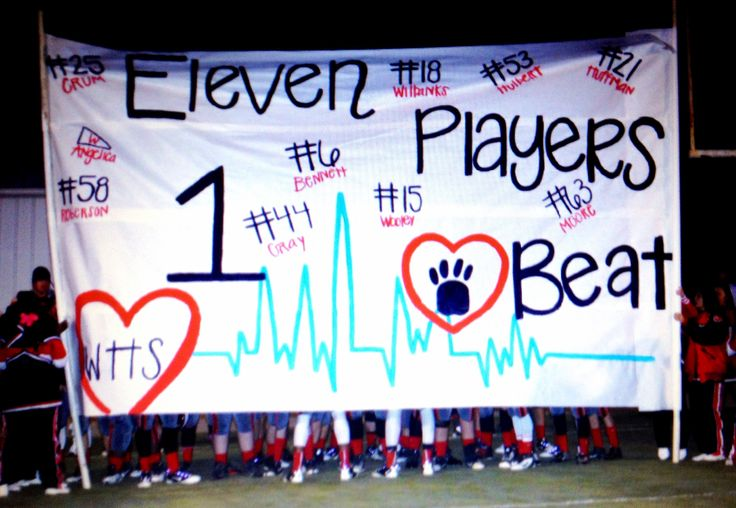 Football run through sign - one of my favorite run through signs we did this year...GO WALNUT WILDCATS!!!