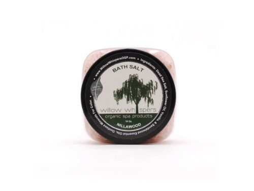 16 Oz NillaWood - All Natural Bath Salt by Willow Whispers - Organic Spa Products. $17.50. Mineral therapy for skin and muscles. 100% Natural. Dead Sea Salt, pure oils, oxidized minerals used for added color. Unique blends of Essential Oils. Proudly handmade in USA; made in small batches to insure quality. Made with the finest ingredients available.  We start with Dead Sea Salt from Israel, which is full of minerals to help rejuvenate your muscles and skin cells.  These salts ...