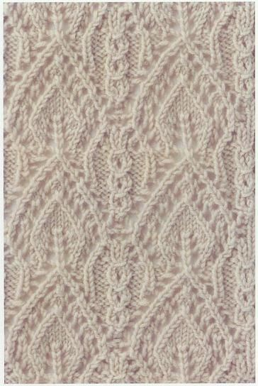Lace Knitting Stitch #65 Lace Knitting Stitches Knitting Pinterest La...