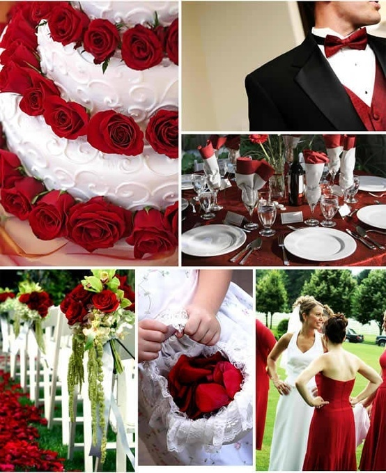 red and white wedding - Click image to find more Weddings Pinterest pins
