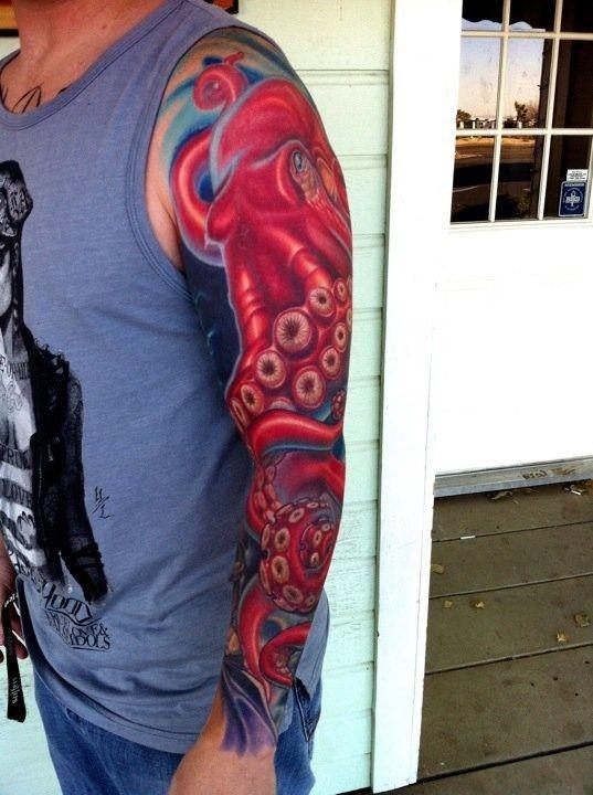 Great Nikko Hurtado Octopus #Tattoo
