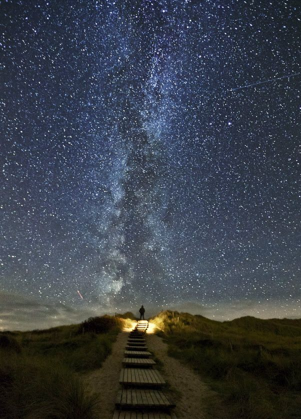 The Milky Way, seen from Island Sylt, North Sea Coast of Germany.