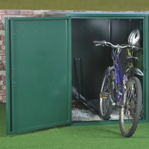 Asgard Metal Security Shed   Single Bike Locker