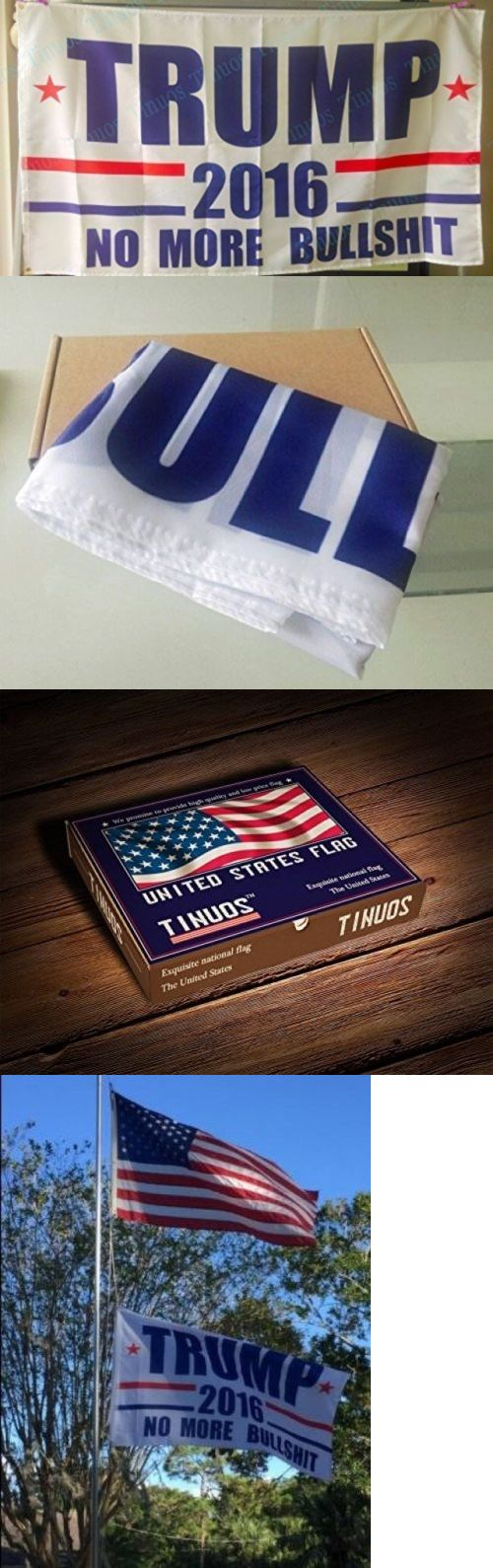 donald trump: President Donald Trump Flag No More Bullshit Make America Great Again Flags -> BUY IT NOW ONLY: $13.38 on eBay!