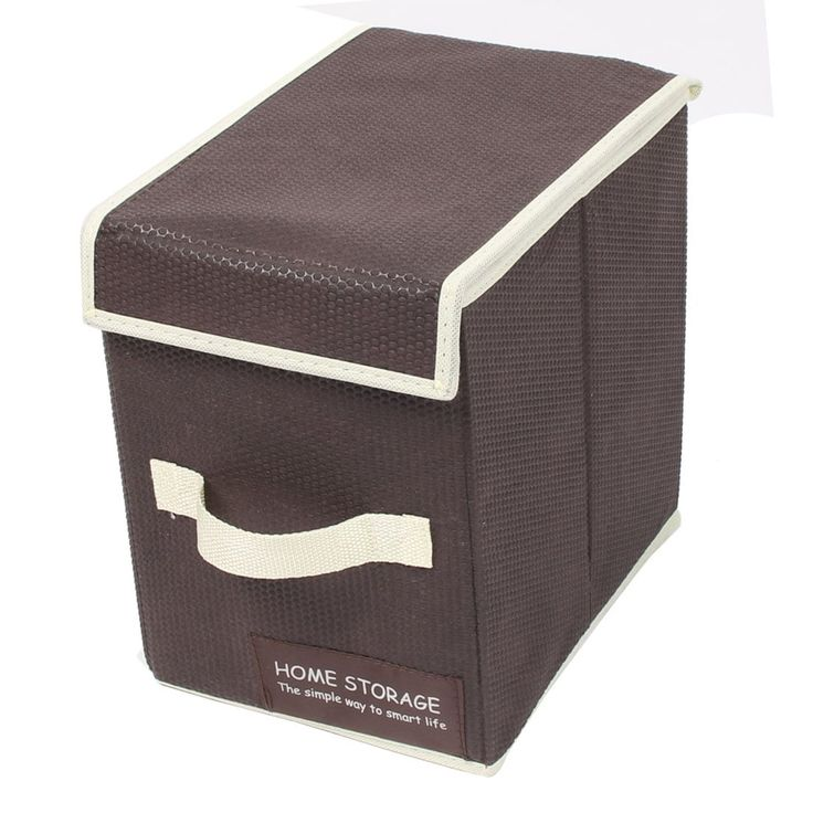 Home Household Jewelry Clothes Storage Box Case Holder Container Coffee (Brown) Color
