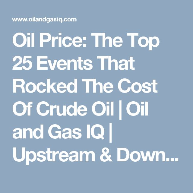 Oil Price: The Top 25 Events That Rocked The Cost Of Crude Oil | Oil and Gas IQ | Upstream & Downstream Oil and Gas Industry News &…