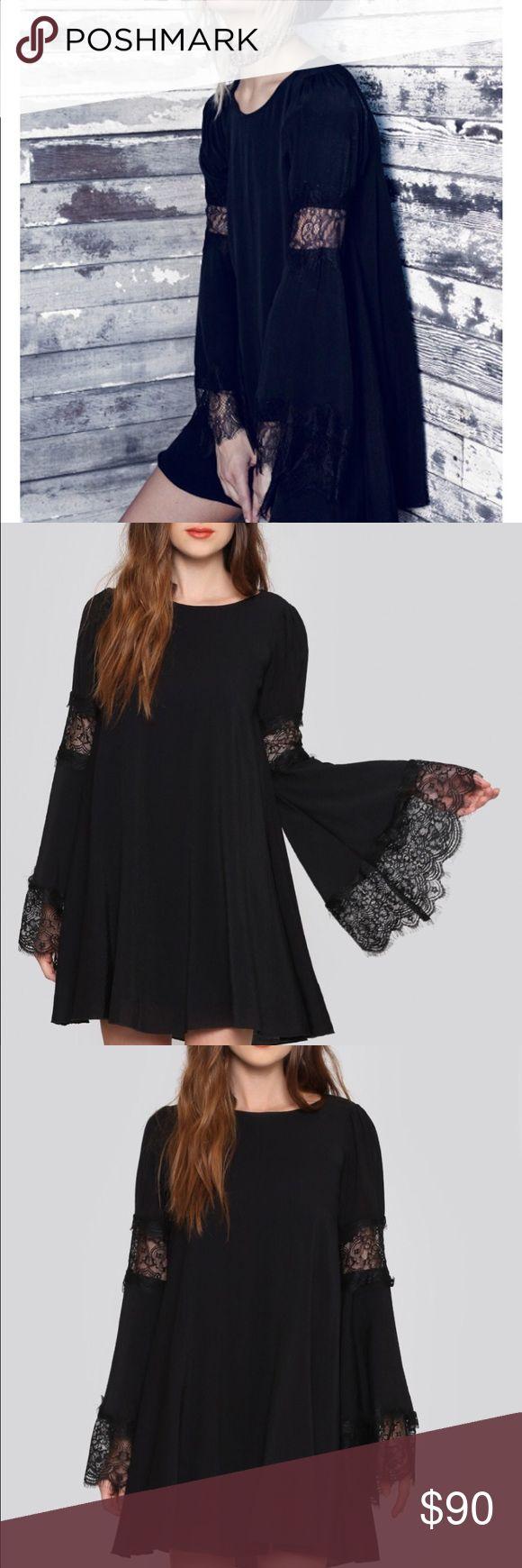 For Love and Lemons black festival dress Gently used. NO TRADES For Love and Lemons Dresses Mini