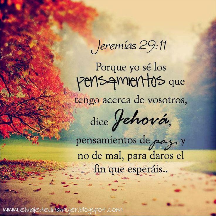Versiculos De La Biblia De Animo: Jeremias 29:11 /Frases ♥ Cristianas ♥