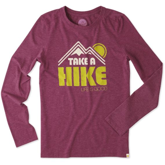 Women's Take A Hike Mountain Sun Long Sleeve Cool Tee | Life is Good® Official Site