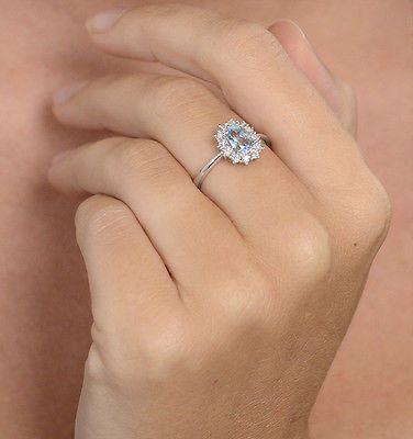 9k-oro-bianco-anello-con-Topazio-Diamanti-da-gioielli-trimestre-Londra-11x9mm
