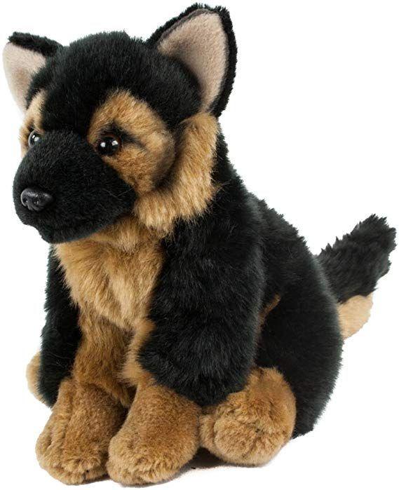 Teddys Rothenburg Kuscheltier Schaferhund Sitzend 19 Cm Schwarz Braun Pluschschaferhund Kuscheltier Tiere Kuscheln