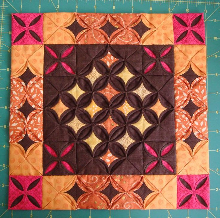 cathedral windows mini quilt to make corners put   charm square in centre of square instead of where squaresmeet