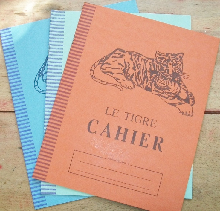 French School Book Cover : Menu three unused vintage french s school exercise