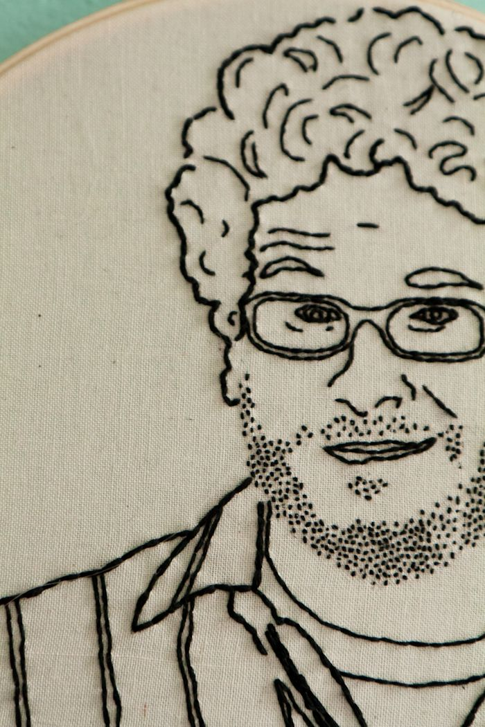 Hand embroidery of...Seth Rogen! by Lilac Saloon