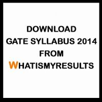 GATE 2014 Syllabus | Download GATE Syllabus for all Courses