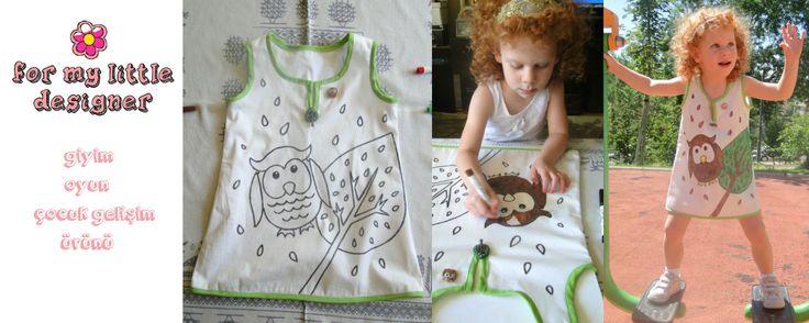 Children's clothing. Children color their own dresses! Çocuklar kendi kıyafetlerini kendileri boyuyolar! Sipariş için: formylittledesigner@gmail.com